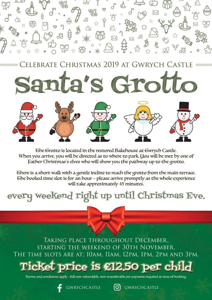 Christmas Grotto at Gwrych Castle Event